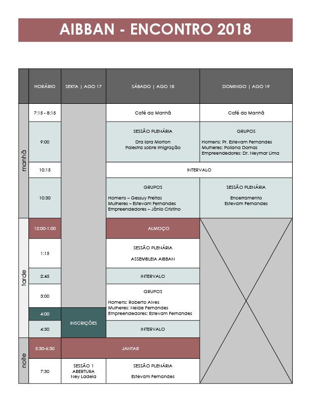 Programação 2018-AIBBAN